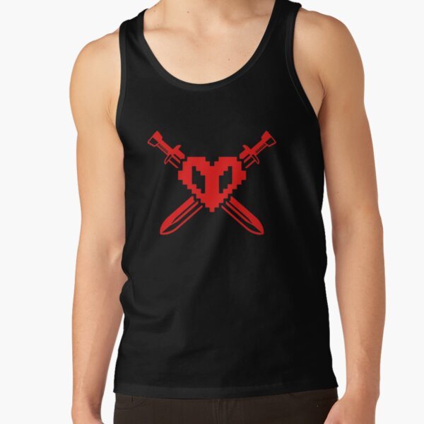 Ph1lza Shirt philza m-erch red Crossed Hardcore Heart T-Shirts Gift For Fans, For Men and Women, Gift Mother Day, Father Day Tank Top RB1106 product Offical Philza Merch